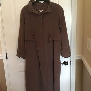 New York Harbor  Brown Trench Coat-removal liner